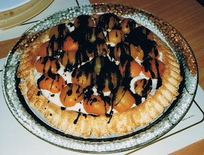 aprikosentorte mit puddingcreme