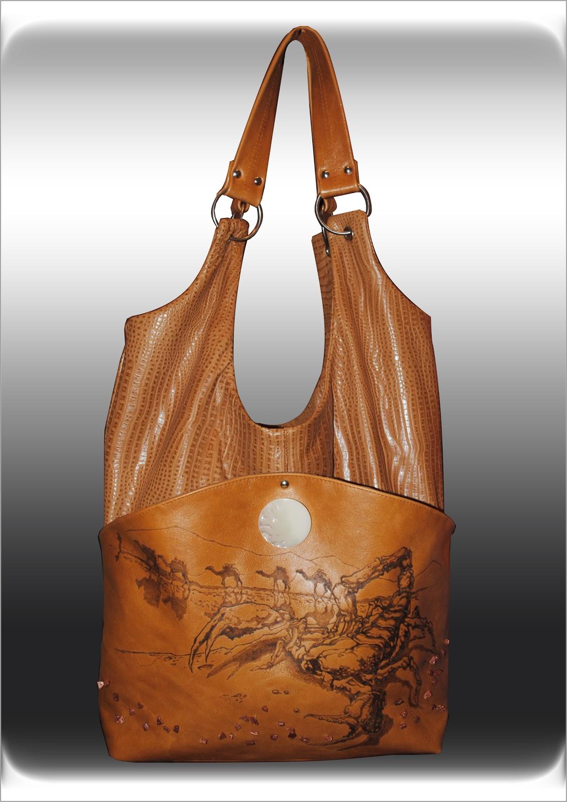 Выкройки сумки мешка из кожи