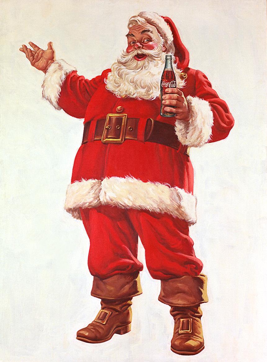 deck the holiday 39 s yes virginia coca cola created santa claus