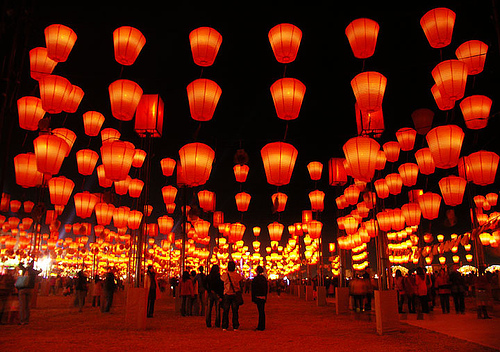 Family Travel Taiwan Lanterns