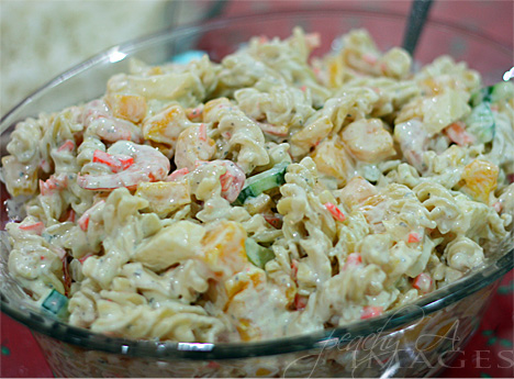 Shrimp-Mango Pasta Salad