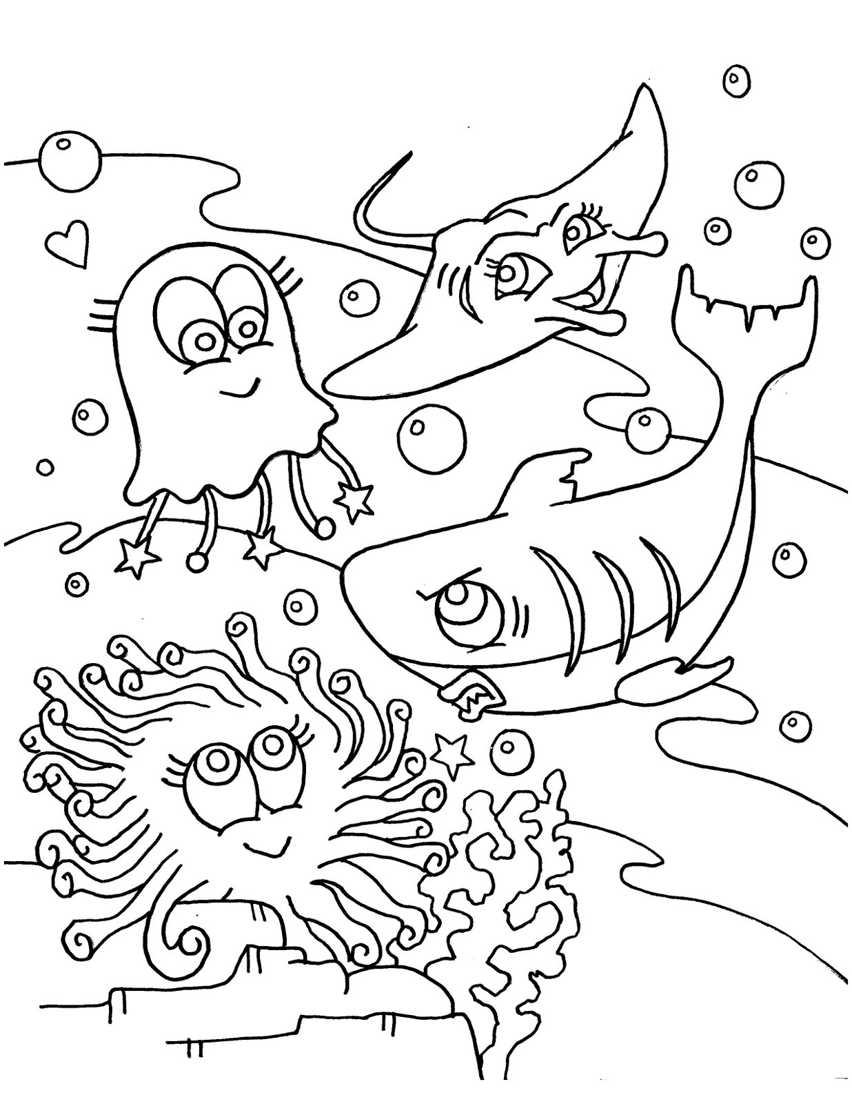 Coloring Pages Sea World