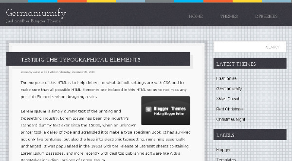 Best Grey Blogger Templates