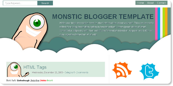 Monastic Odd Blogspot Template