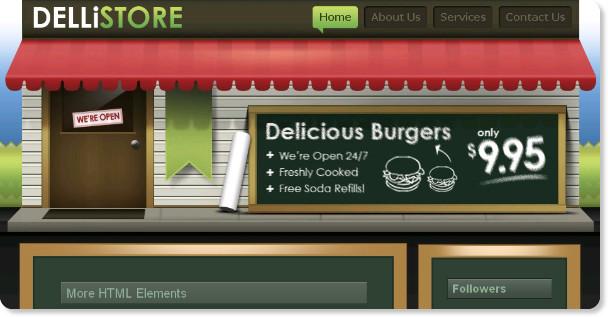 Deli Store Blogger Template