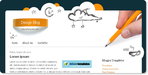 Design Blog Blogspot Template