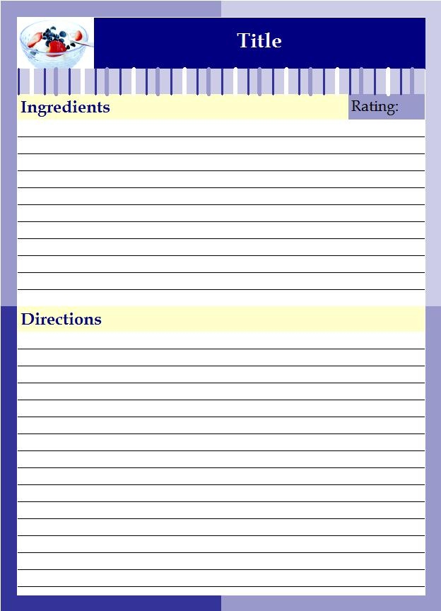 Recipe binder lazyday expressions for Free recipe templates for binders