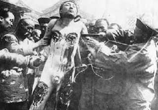 """Ling Ch'ih"" - Death by a thousand Cuts – widely practiced by the Han Chinese on the hapless Tibetan population"