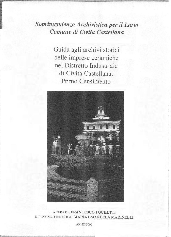Ceramica Althea Spa Civita Castellana.Archivio Multimediale Della Biblioteca Comunale Censimento