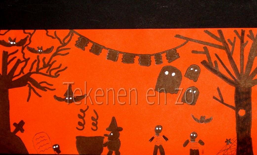Knutselen Halloween Groep 3.Tekenen En Zo Happy Halloween