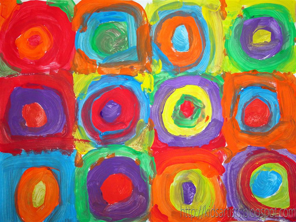 Kids Artists Concentric Circles In The Style Of Kandinsky