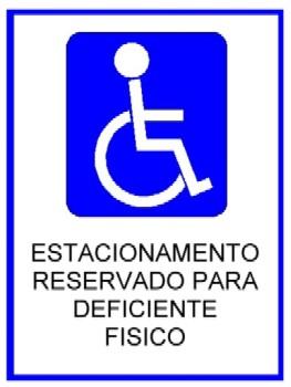 Resultado de imagem para SIMBOLO deficiente estacionamento
