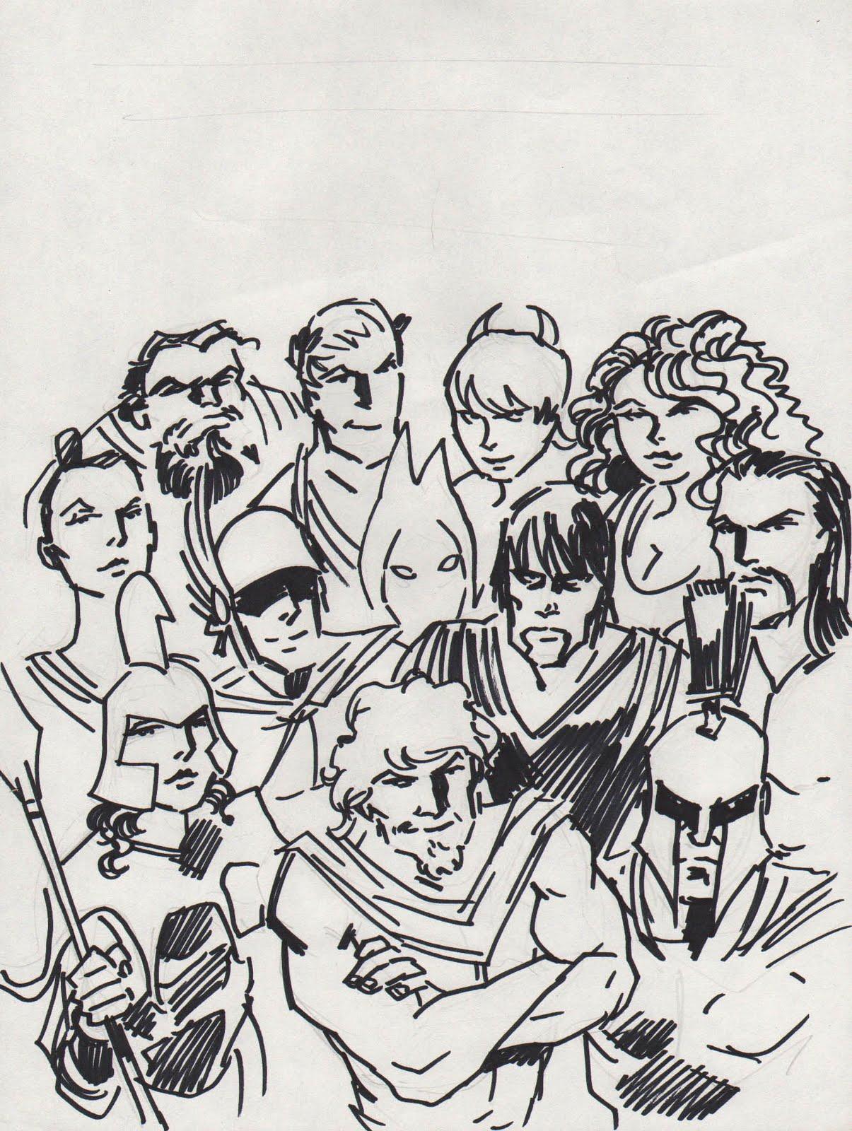 Olympians Rule Mega Post Classics And Comics Cover Tryouts