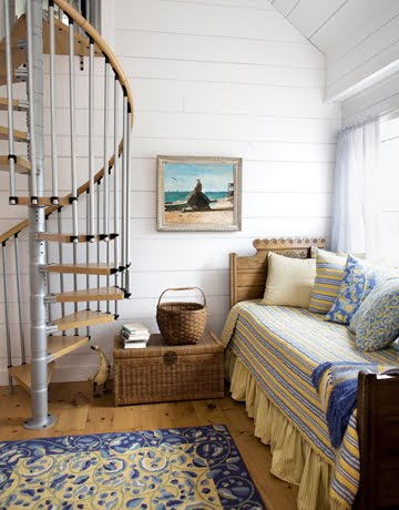 Ticking and toile lovely farmhouse q 39 s answered - Daybed in living room ...