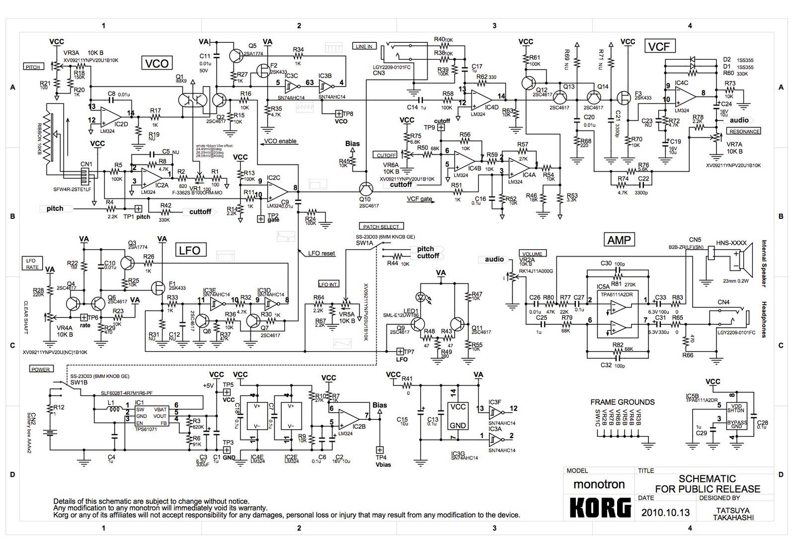 monotron_sch Korg Monotron Schematic on