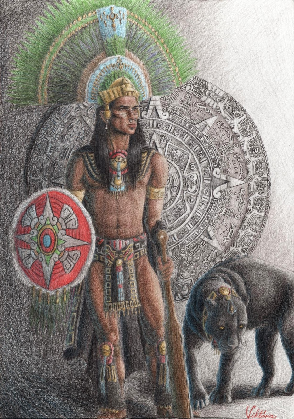 Warriors in art: Aztec...