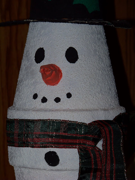 Kids Christmas Craft - Clay Pot Snowman