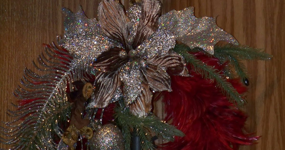 Silver Trappings Christmas Feather Wreaths