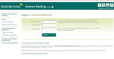 online banking logon