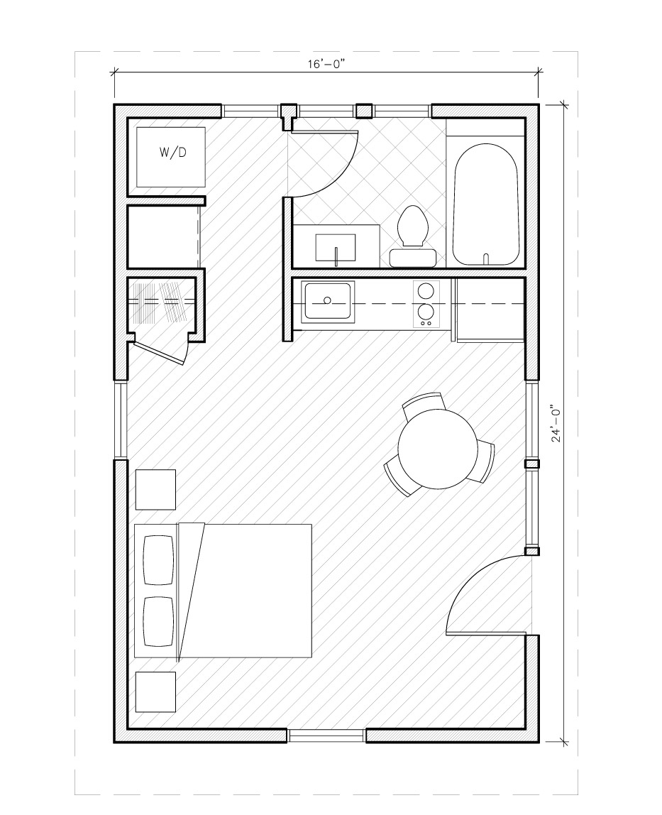 Image Result For 1 Bedroom 700 Sq Ft House Plans 437 Square Feet