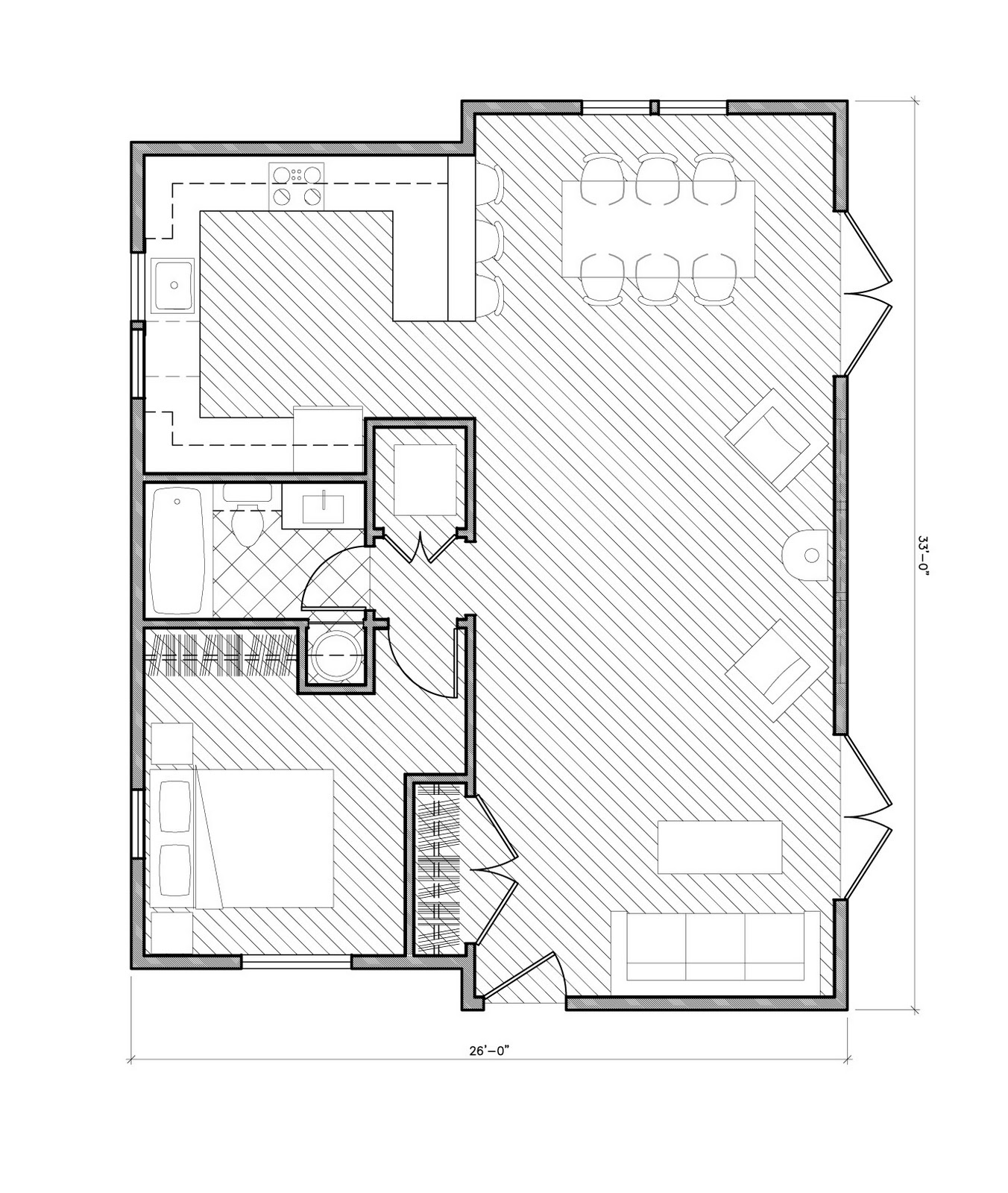 Apartment Plans Under 500 Sq Ft
