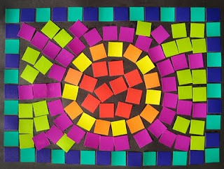 My adventures in positive space may 2010 for Roman mosaic templates for kids
