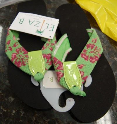 2423b7269cc5ba We just received a shipment of four pairs of Eliza B. flip flops.  Unfortunately
