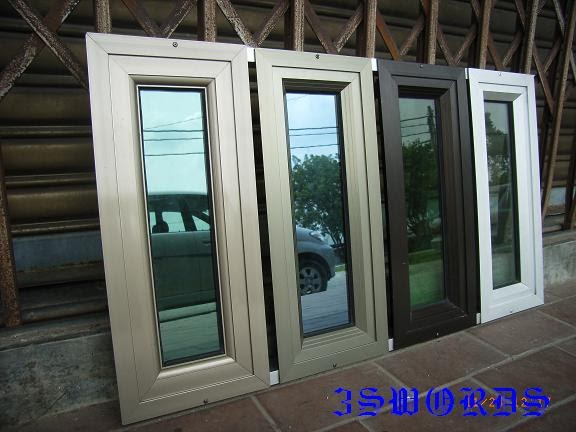 Samples Of Aluminium Frame And Glass For Casement Window
