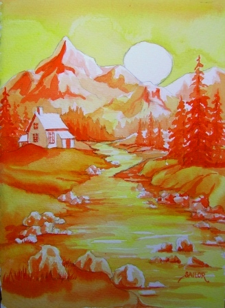 Barbs Daily Creations Analogous Landscape