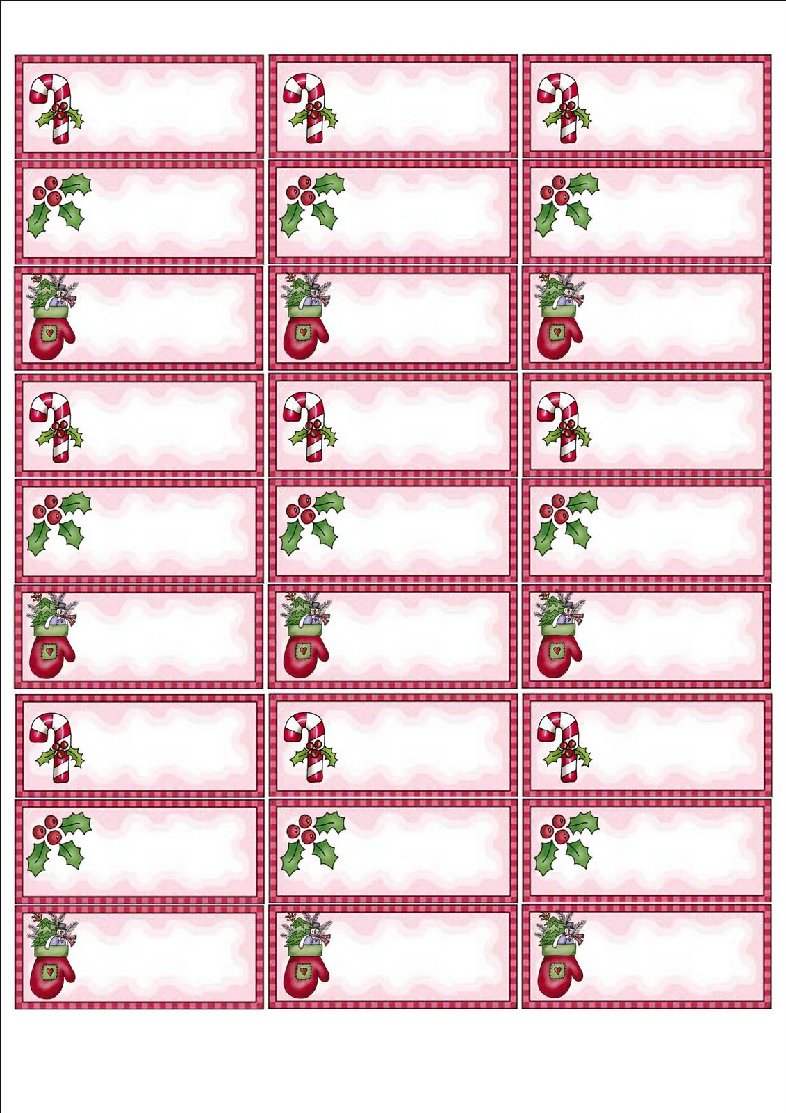 Free Christmas Label Templates - FREE DOWNLOAD
