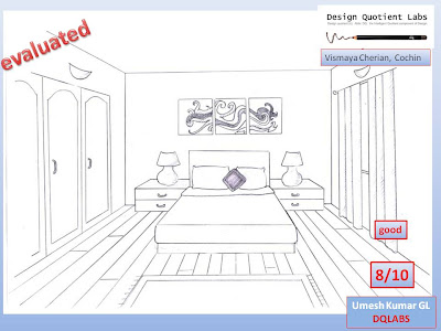 Dqlabs Students Work Doentation Vismaya Cherian Cochin Bedroom Drawing One Point Perspective