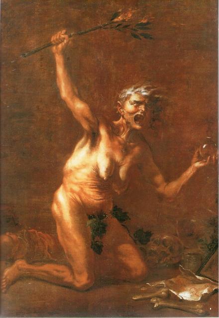 Quadro A bruxa, 1640, Salvator Rosa