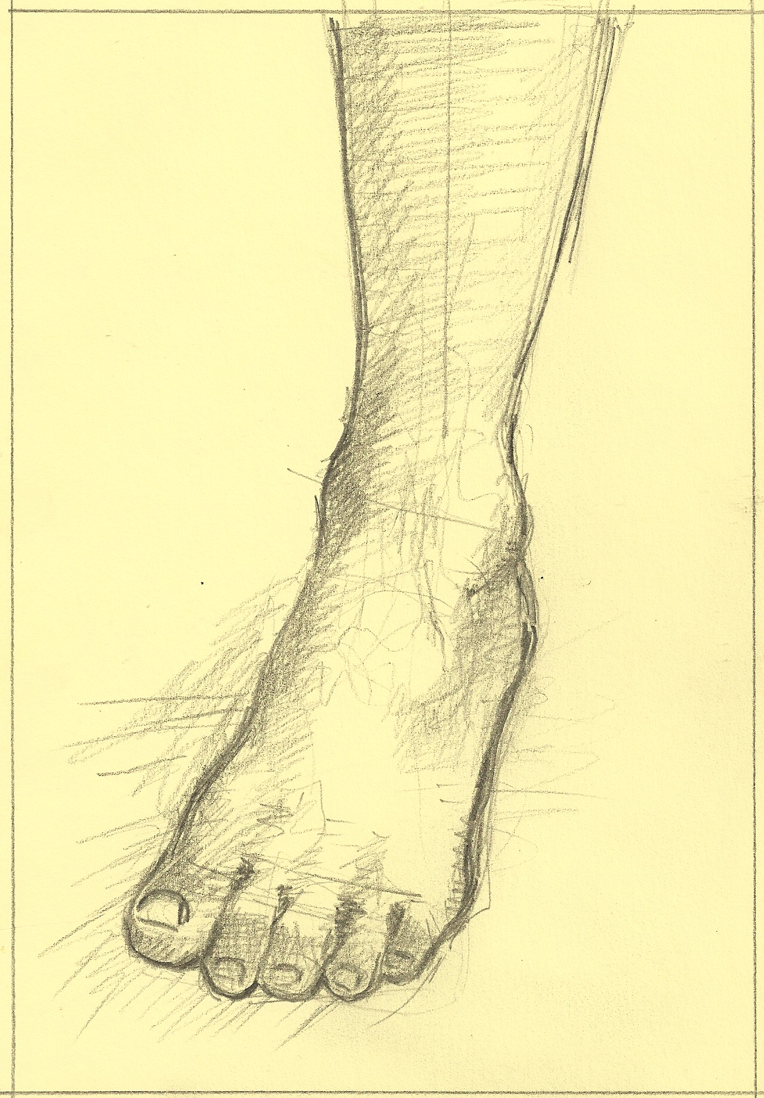 It is a graphic of Peaceful Drawing On Feet