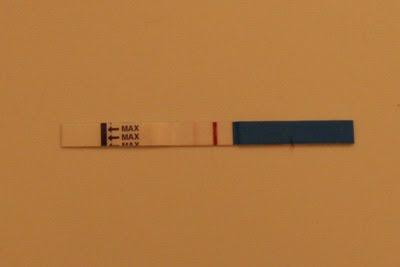 positivt graviditetstest sen blödning