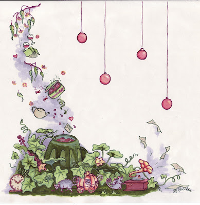 Drawing by Cecelia Macaulay, who has her own rad gardening blog at http://balconyofdreams.blogspot.com