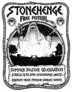 Poster anunciatorio de la segunda edición del festival gratuito de Stonehenge al que acudió Zorch
