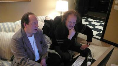 Hans Zimmer y Gwyo Zepix trabajando en 2008