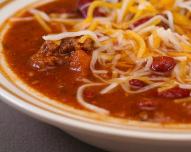 Original Photo Easy Taco Soup Recipe found on KalynsKitchen.com