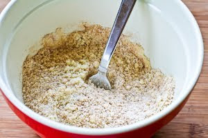 mixing ingredients for Low-Sugar and Flourless Zucchini Muffins with Pecans (Gluten-Free) found on KalynsKitchen.com