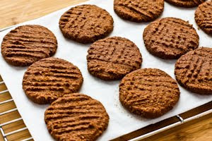 Flourless and Low-Sugar (or Sugar-Free) Chocolate Shortbread Cookies (Gluten-Free) found on KalynsKitchen.com