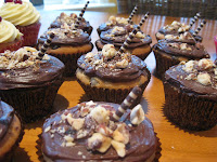Choc/coffee hazelnut cupcakes | becs-table.com.au