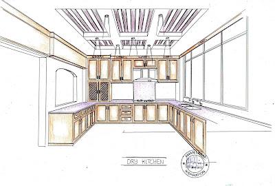Gambar Pelan Rekabentuk Kabinet Dapur Kering Aksesori