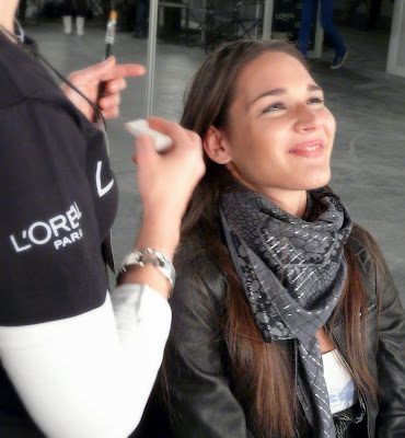 andra stroe modelo  backstage madrid fashion week