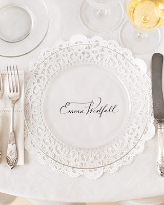 wedding centerpieces buffet Doily Plate Charger