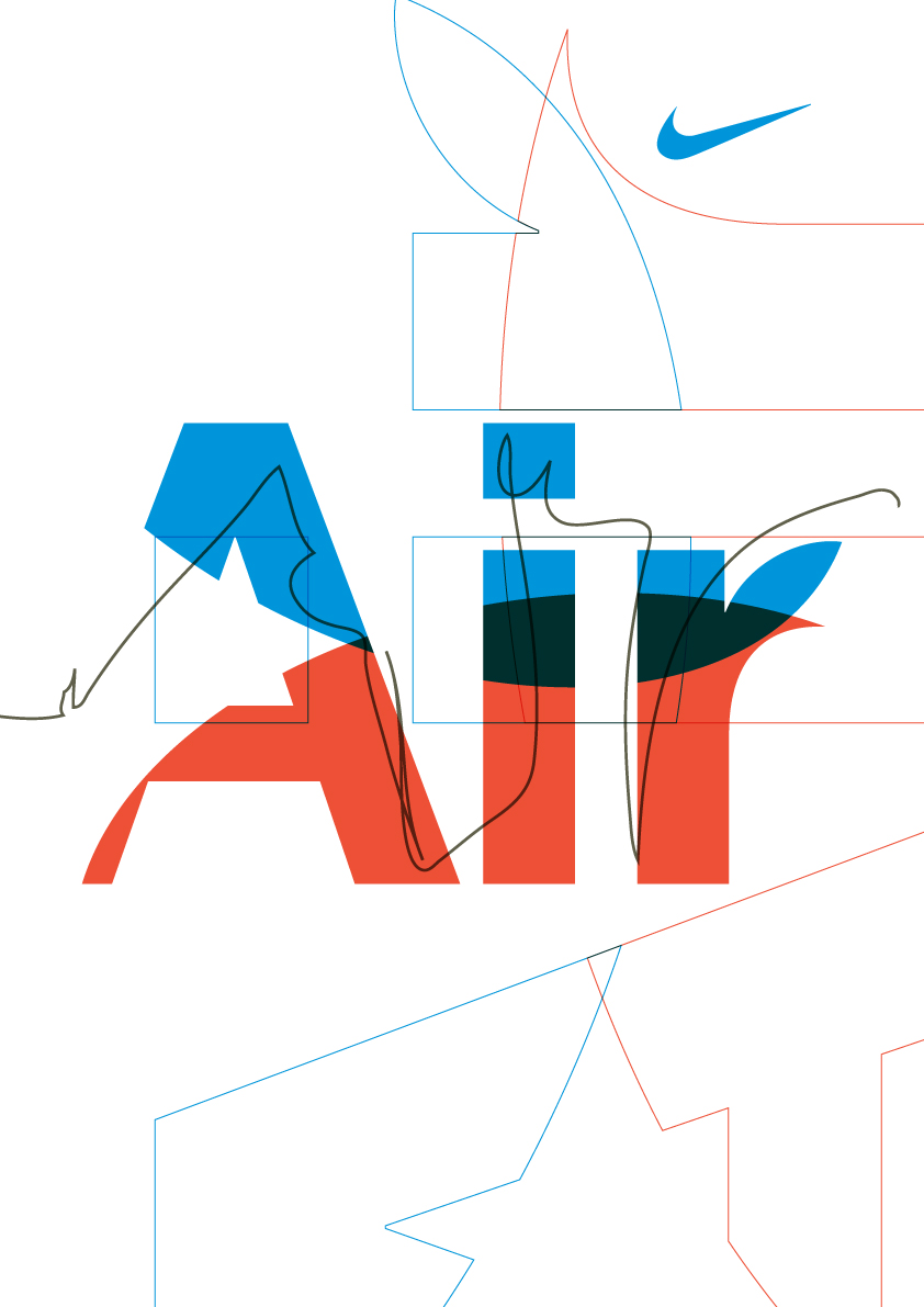 Boldover, Graphic Design: Nike Air Posters (Work in progress)