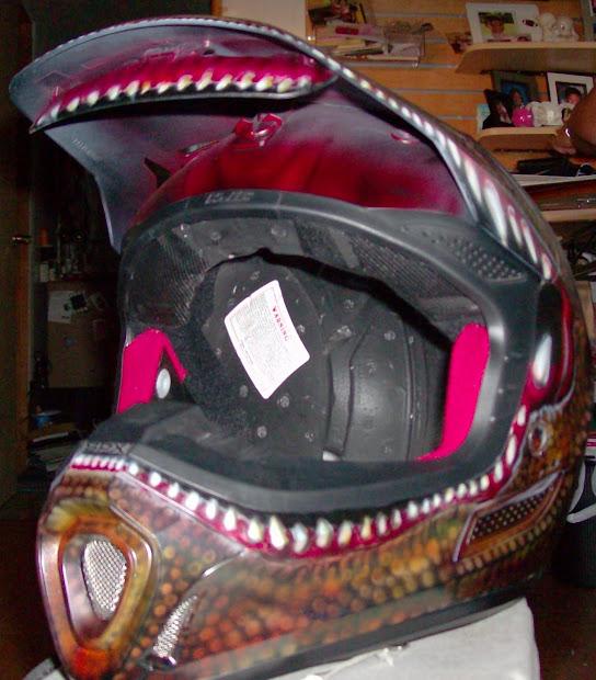 """da Triggaman' Passion"" Monster Prize Dirtbike Helmet"
