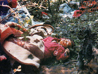 Muslim child killed by Serbs during genocidal war in Bosnia in early 90's