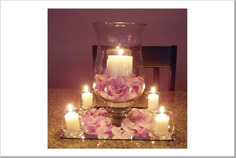 These Hurricane Vases Come With My Reception Hall Something Basic Could Always Be Done Them This Is Pretty And I Love Candlelight