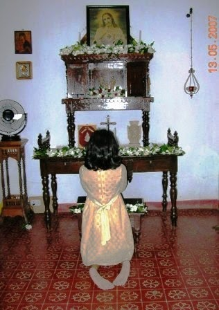 Song of the waves  Parayil A Tharakan Blog Kerala Architecture Prayer room of a heritage home