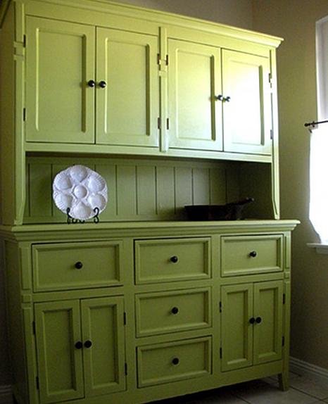 Jenna Sais Quois Moss Green Cabinets